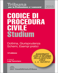 Codice Procedura Civile Studium 2015